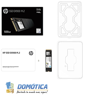 SSD-PCI-E 3.0M.2-2280-500GB-NVME-EX900 HPEX900500N-2,400MB/S - DOMOTICA COLOMBIA - DOMOTICA