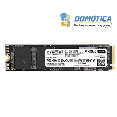 SSD-PCI-E 3.0 M.2-2280-500GB NVME-CRUCIAL-P1-CT500P1SSD8 - DOMOTICA COLOMBIA - DOMOTICA