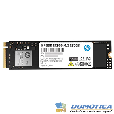 SSD-PCI-E3.0 M.2-2280-250GB NVME-EX900-HPEX900250N 2,400MB/S - DOMOTICA - DOMOTICA COLOMBIA